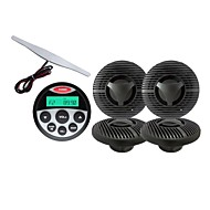 Waterproof Marine Radio Stereo ATV UTV Audio Receiver+ 5.5 Inch Black/white Waterproof Speakers+Radio Antenna