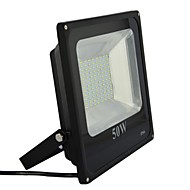 AC180-260V 50W LED Outdoor Aluminium SMD Floodlight in Black