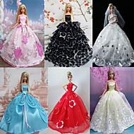 Princesse Robes Pour Poupée Barbie Rouge / Blanc / Noir / Rose / Bleu