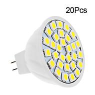 2W GU5.3(MR16) LED Spotlight 30 SMD 5050 150-200 lm Warm White/ Cool White DC12V 20pcs