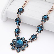 European Style Luxury Metal Shine Baroque Gem Necklace(More Colors)