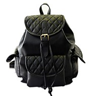 Women's Girls New Fashion Diamond Lattice Embroidery Thread Backpack
