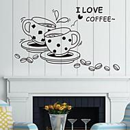 pared calcomanías pegatinas de pared, café palabras inglesas&cita pegatinas de pared del pvc