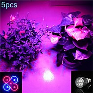 5W E26/E27 LED Spotlight MR16 5 SMD 500 lm Purple AC 85-265 V 5 pcs