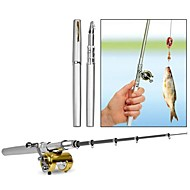 Gift Groomsman Fishing Rod Pen Mini Camping Travel Portable Fishing Rod Pole with Reel