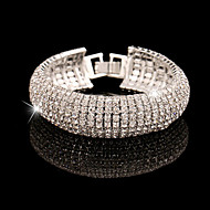 Браслеты-цепочки и звенья Имитация Алмазный Уникальный дизайн Мода Бижутерия Золотой Серебряный Бижутерия 1шт