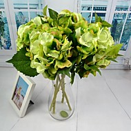 """New White Green Pink Silk Hydrangea 2 Pieces/Lot 18.11"""" Stem for Home and Party Decoration"""
