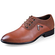 Men's Spring / Summer / Fall Comfort Leather Casual Low Heel Lace-up Black / Brown