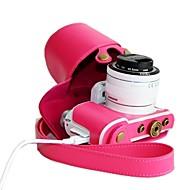 dengpin® couro pu estojo protetor câmera destacável retro para Samsung NX3000 com 16-50mm ou lente de 20-50mm