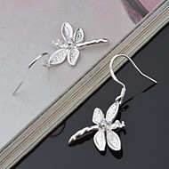 Titanium and Silver Butterfly Shaped  Pierced  Women's Earrings