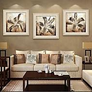 A fleurs/Botanique Toile Encadrée / Set de Cadres Wall Art,PVC Beige Sans Passepartout Avec Cadre Wall Art