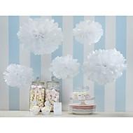 decoração do casamento 4 polegadas flores de papel decoração pompons papel de seda partido ofício (conjunto de 4)