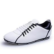 Scarpe da uomo - Sneakers alla moda - Casual - Finta pelle - Nero / Giallo / Bianco