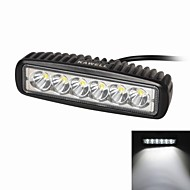 "KAWELL 18W 6.2"" LED for ATV/boat/suv/truck/car/atvs light Off Road Waterproof Led Work Flood Light Bar"