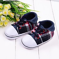 Boy's Flats Spring / Fall / Winter First Walkers / Crib Shoes Customized Materials Outdoor Flat Heel Plaid / Gore Multi-color