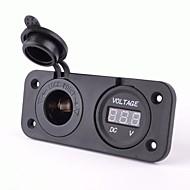 Power Socket With Dc 12V Digital Voltmeter