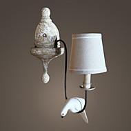 vintage valódi fa madár csinálni olf színű fal lámpa vidék stílusban szövet árnyékban
