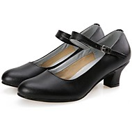 Fashion Womens Leather And Fabric Upper Jazz Dance Shoes More Colors Modern Women s Heels Chunky
