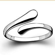 Pierścionki Ślub / Impreza / Codzienny / Casual Biżuteria Srebro standardowe Damskie Duże pierścionkiRegulacja Srebrne