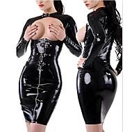 Sexy Breasts Cool Girl Black PU SM Uniform