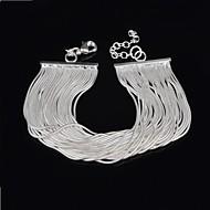 Women's Cuff Bracelet Silver Non Stone
