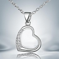 Classic Simple Silver Plated Alloy Pendant Necklace(1pc)