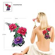 PC 1 Color de la figura impermeable tres flores patrón tatuaje pegatinas