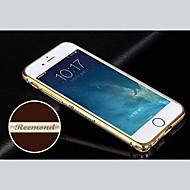gepersonaliseerde gegraveerd exquise-goud geregen metalen kader van de bumper shell voor 4.7 inch iphone 6 (goud, zilver, zwart, roze)