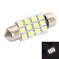 36mm 3W 150LM 6000K 12x3528 SMD White LED for Car Reading/License Plate/Door Lamp (DC12V, 1Pcs)