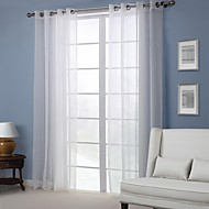 Sheer Modern solid Curtain (One Panel)