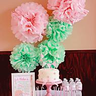 bryllup dekor 4 tommers silkepapir pom poms fest innredning håndverket papir blomster (sett av 4)