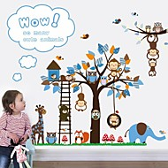 Wandaufkleber Wandtattoo, mehrere Affen Spiel Trick mit jedem anderen PVC-Wandaufkleber.