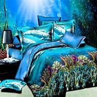 baolisi® 3d moda confortável print floral cama quatro peças