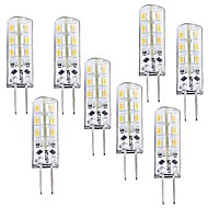 1W G4 LED Corn Lights T 24 SMD 3014 100-120 lm Warm White Dimmable DC 12 V 8 pcs