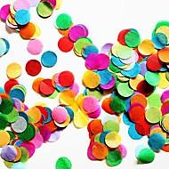 "2500 PCS 2/5""(1cm) Round Multicolor Tissue Paper Confetti for Party Birthday Decoration"