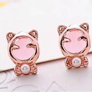 Stud Earrings Men's/Women's Alloy Earring Opal