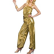 Gold Cool Girl PU Club Wear Sexy Pole Dancing Uniform M,XL