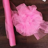 0.48*5M Mirror Organza Stiff Fabric for Wedding Drape Decoration Chair Sashed Ribbon Mesh