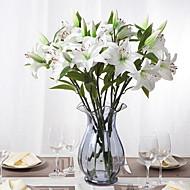 Novinkou falešný pu pryskyřice lilie květiny 1ks / set