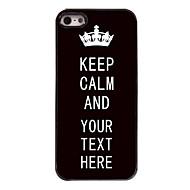 kişiselleştirilmiş durumda siyah iphone 5 / 5s için sakin tasarım metal kasa tutmak