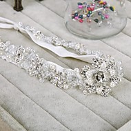 Women's Satin/Rhinestone/Flax Headpiece - Wedding/Special Occasion Headbands