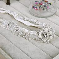 satijn/Bergkristal/Vlas Vrouwen Helm Bruiloft/Speciale gelegenheden Hoofdbanden Bruiloft/Speciale gelegenheden
