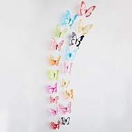 18pcs 3D Wall Stickers Wall Decals,Colorful Butterflies PVC Wall Stickers