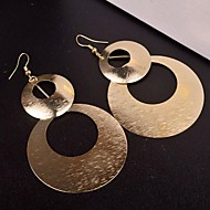 Casual Multi Level Alloy Drop Earrings(Golden,Silver)(1 Pair)