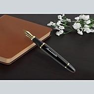 personalisierte Werbegeschenk Lederkasten mit Edelstahl lnk Stift (schwarz oder gold) eingestellt