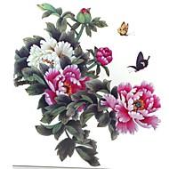 1 szt wodoodporna kolor wielobarwny motyl kwiat piwonii serii wzór tatuaż naklejki powiększyć