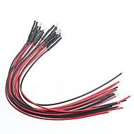 Indikátor modifikace auto kutilství 5mm červené světlo LED žárovky multicolor (12V) (10 ks)