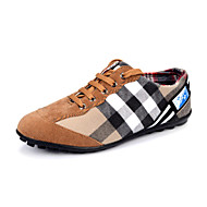 Men's Spring / Summer / Fall Comfort Canvas Outdoor / Casual Flat Heel Lace-up Brown / Yellow / Green Sneaker