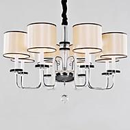 moderno e minimalista decoração lustre de cristal e27 * 8