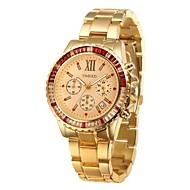 Time100 Men's Fashional Luminous Hands Diamond Stainless Steel Strap Chronograph Quartz Watches(Assorted Colors)
